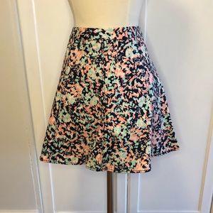 Club Monaco Cotton Printed Skirt